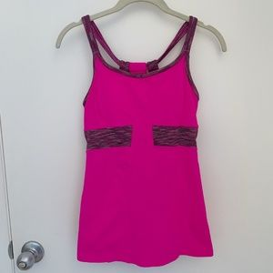 Athleta Pink Prasada Workout Tank